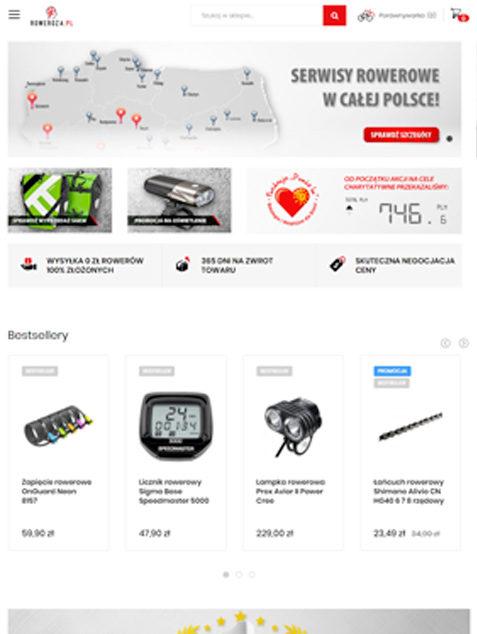 roweroza.pl - wygląd tablet