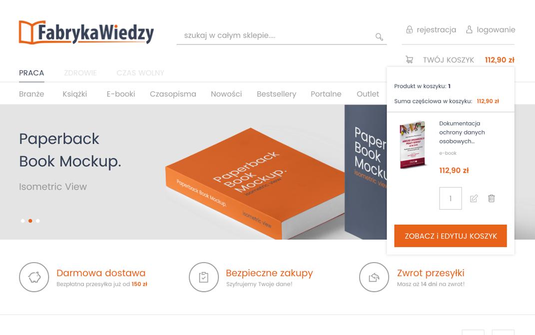 Fabryka Wiedzy platform Magento - desktop