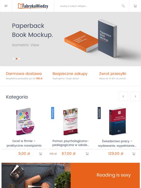 Fabryka Wiedzy platform Magento - tablet