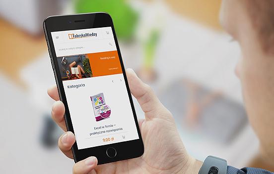 Fabryka Wiedzy on Magento 2 - smartphone