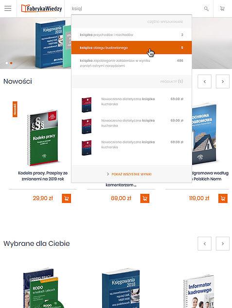 Fabryka Wiedzy on Magento 2 - tablet